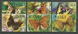 POLAND Oblitéré 2345-2350 Papillon Papillons - 1944-.... République