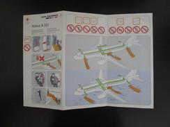 Safety Card - Carte De Sécurité - Air France A320 - Non Classés