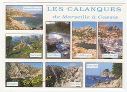 {77313} 13 Bouches Du Rhône Les Calanques De Marseille à Cassis , Multivues ; Port Miou Port Pin Sormiou Morgiou En Vau - France