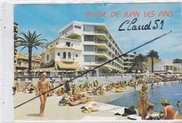 JUAN Les PINS (06) La Promenade Et Les Plages (jolie Fille Aux Seins Nu) - France