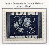 PIA - AUSTRIA  - 1952 : Giochi Olimpici Di Oslo Ed Helsinky -  (Yv 809 ) - Winter 1952: Oslo
