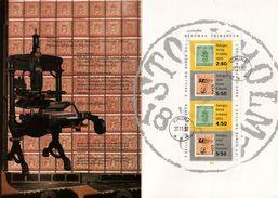 Encart - FDC - Sverige - Suéde - Block - Julgava - Kiruna - Posten Frimärken - Balance - Machine Presse - 1992 - FDC