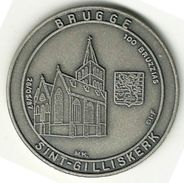 3133 Vz Brugge - Sint-Gilliskerk 100 Bruzzias - Kz Oppidi Sigillum Brugensis - Jetons De Communes