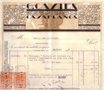 MAROC - CASABLANCA - PAPETERIE , LITHOGRAPHIE , TYPOGRAPHIE , GRAVURE - GEORGES CASTEX - 1927 - Factures & Documents Commerciaux