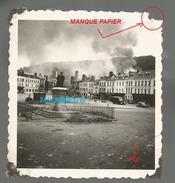 WW2 PHOTO ORIGINALE ALLEMANDE Destruction LES ANDELYS En Feu P. Courcelles Sur Seine Gaillon EURE 27 Entre Vernon  Rouen - 1939-45