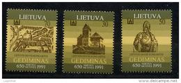 LITUANIE LIETUVA 1991, GRAND DUC GEDIMINAS, 3 Valeurs, Neuf / Mint. R228 - Litauen