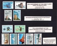 Australian Antarctic 1979 - 1984 Issues MNH - Flight, Mawson, Pole, Scenes Sets - Australian Antarctic Territory (AAT)