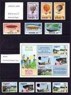 Vanuatu 1983 Sets MNH - 2 Scans - Butterflies, Fish, Flight, Communications, Etc. - Vanuatu (1980-...)