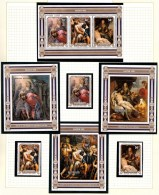 Penrhyn 1981 Easter Van Dick Paintings Set Of 3 + 4 Minisheets MNH - Penrhyn