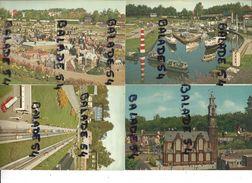 4 CPM - MINIATUURSTAD MADURODAM - DEN HAAG (ville, Autoroute, Port Et Tour Miniature) - Den Haag ('s-Gravenhage)