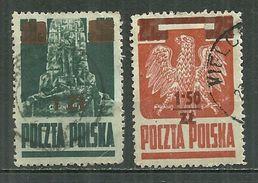 POLAND Oblitéré 431 Et 433 Aigle Et Monument En Souvenir De La Bataille De Grunwald - 1944-.... Repubblica
