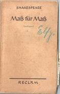 SHAKESPEARE MASS FUR MASS Lustspeil - Theater & Scripts