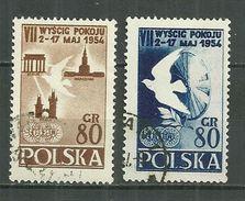 POLAND Oblitéré 747-748 Tour Cycliste De La Paix Cyclisme Vélo Colombe De La Paix - 1944-.... République