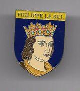 PINS  Broche PHILIPPE LE BEL ROI ET REINE HISTOIRE DE FRANCE éditions Atlas Fermeture épingle / 33NAT - Personajes Célebres