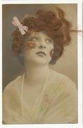 Carte A Cheveux Tres Belle Cheveux Veritables Tres Belle Femme Rubn Soie - Cartoline