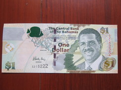 The Central Bank Premier Lynden Pindling, Map,backside Force Band, $1 Facevalue, Issued In 2008, UNC - Bahamas