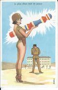 CPSM - ILLUSTRATEUR L.CARRIERE -  Humour Militaire - Quille - Pin-up  - Très Bon état - - Carrière, Louis