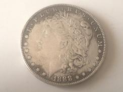 Moneda Estados Unidos. 1 Dolar. 1888. CC. Réplica - 1878-1921: Morgan