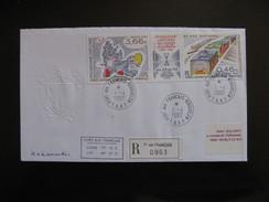 TAAF: TB Enveloppe, Affranchie Avec Bande N°336/337 , Datée Du 01/04/2002 De Port Aux Français - Kerguelen . - Terres Australes Et Antarctiques Françaises (TAAF)
