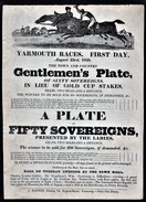1836  Horse Racing  Advertising Poster,  Superb Condition.  Ref 0387 - Apparel, Souvenirs & Other