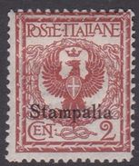 Italy-Colonies And Territories-Aegean-Stampalia S1 1912 2c Orange Brown MH - Egeo (Stampalia)