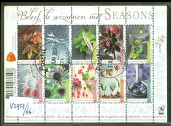 NEDERLAND * BLOK NVPH V 2957 - 2966 * BLOCK * BLOC * POSTFRIS GESTEMPELD  *  Beleef De Seizoenen, Flowers, Bloemen - Periode 1980-... (Beatrix)