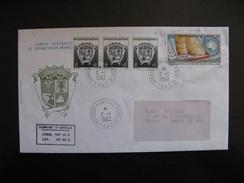 TAAF: TB Enveloppe, Affranchie Avec N°163 X 3 + 165 , Datée Du 02/01/1992 De Dumont D'Urville - Terre Adélie. . - Terres Australes Et Antarctiques Françaises (TAAF)