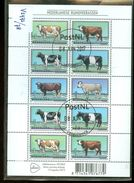 NEDERLAND * BLOK NVPH V 2973 - 2978 * BLOCK * BLOC * POSTFRIS GESTEMPELD  *  RUNDVEERASSEN - Periode 1980-... (Beatrix)
