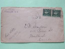 USA 1908 Cover Hudson To Canada - Franklin (Scott #300 - Margin Of Page Pair) - Brieven En Documenten