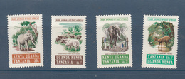 1975 Kenya Uganda Tanzania Rare Animals Elephant Buffalo   Complete Set Of  4 MNH - Kenya, Uganda & Tanzania