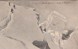 12324) ALPINISMO AL MONTE BIANCO SERAC E CREPACCI NON VIAGGIATA 1905 CIRCA - Italia