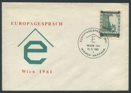 ÖSTERREICH / Brief Europagespräch Wien 1961 Mit ANK 869 Und Sonderstempel Vom 21.06.1961 - 1945-.... 2nd Republic