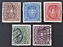 ARTS 1922 - OBLITERES - YT 282a/86a - MI 398B/402B - DENTELES 11 1/2 - RARES !! - Usados
