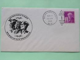 USA 1948 Special Cover Schenectady 150 Anniv. - Thomas Edison - Etats-Unis