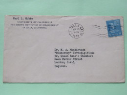 USA 1948 Cover La Jolla To England - James Monroe - Brieven En Documenten
