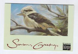 AUSTRALIA  BIRD SPECIAL CHRISTMAS COVER (card)  Pmk CHRISTMAS HILLS Kookaburra   Stamps Cover 1993 Birds - 1990-99 Elizabeth II