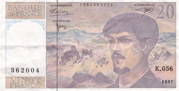 20 Francs Debussy N° K.056 362004 De 1997 - 1962-1997 ''Francs''