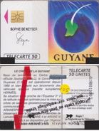 F105 NSB GUYANE ARIANESPACE TELECARTE 50 U 89/03 PUCE SO2A - 1989