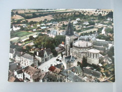 CPA PHOTO 35 CHATEAUBOURG EGLISE ET MAIRIE VUE GENERALE AERIENNE - Other Municipalities