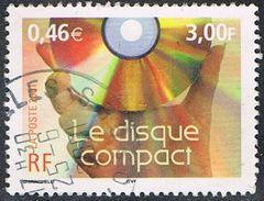 """FRANCE : N° 3376 Oblitéré """"TàD Rond"""" (Le Siècle Au Fil Du Timbre : Le Disque Compact) - PRIX FIXE - - France"""
