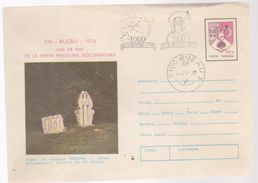 Sculpture Cover Romania 1975 CAMP FROM MAGURA  BUZAU With Special Postmark Bear - Enteros Postales