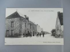 CPA 44 SAINT LYPHARD ROUTE DE SAINT NAZAIRE CYCLISTES - Saint-Lyphard