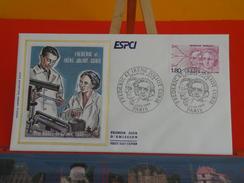 Coté 1,80€ - Frédéric Et Irène Joliot Curie, Centenaire 1882-1982 ESPCI - 26.6.1982 - Paris - FDC 1er Jour - FDC