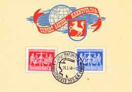 Germany Allied Occupation Cover Hannover Exportmesse Complete Set 26-5-1948 - Amerikaanse, Britse-en Russische Zone