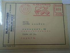 D152425 Berlin NW 7 -H.Hauptner Instrumentenfabrik  1938 Franking Machine - Alemania
