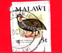 MALAWI - Usato - 1975 - Fauna - Uccelli - Red-necked Spurfowl (Pternistis Afer) - 5 - Malawi (1964-...)