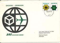 Singapore First SAS Flight Singapore - Copenhagen 5-11-1973 - Singapore (1959-...)