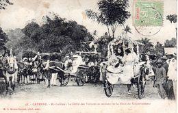 Cayenne Mi - Carême - Le Défilé Des Voitures Se Rendant Sur La Place Du Gouvernement - Cayenne