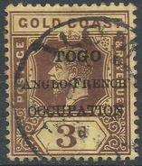 Togo. 1915 KGV Stamps Of Gold Coast Overprinted. 3d Used. SG H38 - Togo (1914-1960)