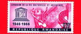 Nuovo - MNH - RWANDA - 1966 - 20 Anni Dell'UNESCO - Expansion De La Vie Culturelle Et Artistique - 0.20 - Rwanda